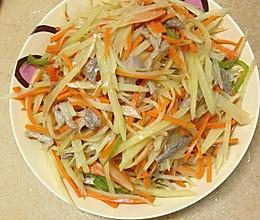 胡萝卜炝炒土豆丝的做法