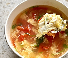 超低热量清爽西红柿鸡蛋汤的做法