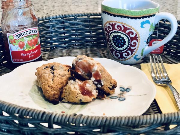 成功率99.9%的蓝莓司康饼菜谱