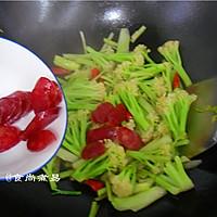 广式腊肠炒花菜#味极鲜味汁#的做法图解10