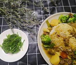 咖喱牛腩饭的做法