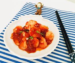 番茄虾仁#中粮我买,超模资料大公开#的做法