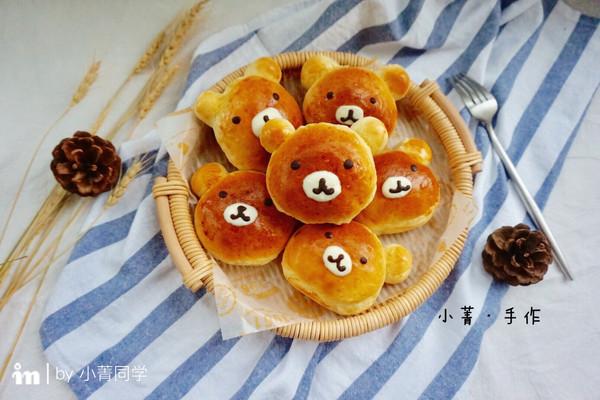 """小熊面包(黑芝麻馅)#享""""美""""味#的做法"""