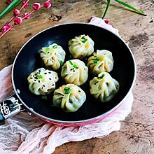 #人人能开小吃店#饺子皮菠菜水煎包