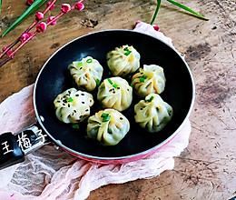 #人人能开小吃店#饺子皮菠菜水煎包的做法