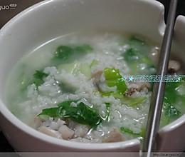 牛蛙青菜粥的做法