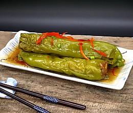 辣椒酿肉#美的微波炉#的做法