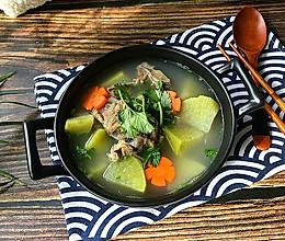 #憋在家里吃什么#羊蝎子青萝卜汤的做法