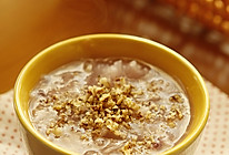 核桃银耳紫薯粥的做法