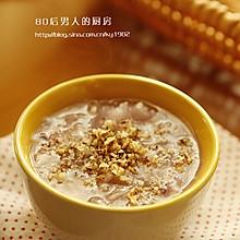 核桃银耳紫薯粥