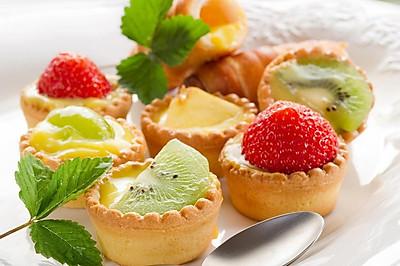 诱人美味---草莓酸奶蛋挞