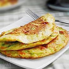 西葫芦煎蛋饼 #急速早餐#