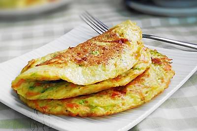 西葫芦煎蛋饼