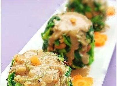 花生麻酱拌菠菜的做法