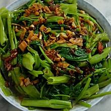 葱油拌空心菜