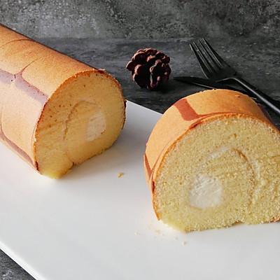烫面千叶纹奶油蛋糕卷
