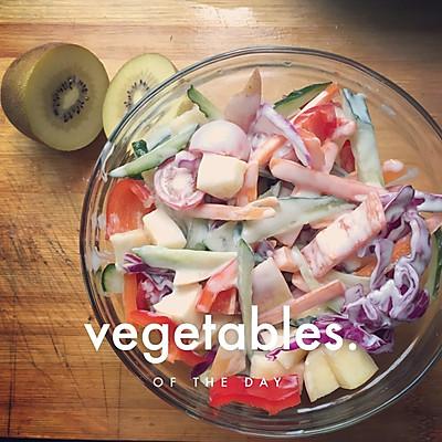 夏季减肥蔬菜水果沙拉