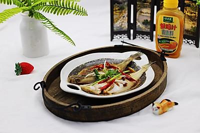 鸡汁清蒸比目鱼#太太乐鲜鸡汁蒸鸡原汤#