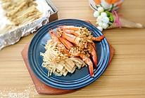 金针菇蒜蓉烤虾的做法