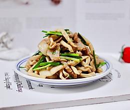 #父亲节,给老爸做道菜#肉片白玉菇小炒的做法
