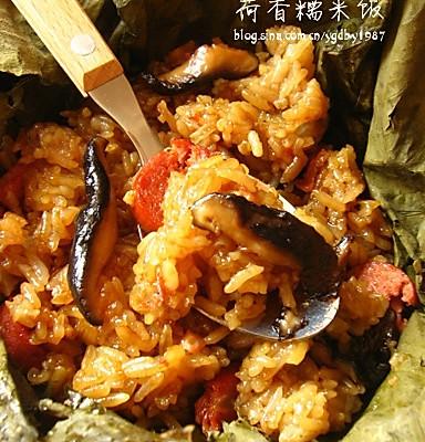 荷香糯米饭的做法