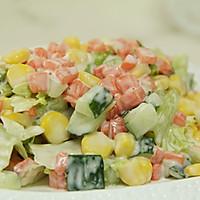 塑造A4腰的食谱——蔬菜沙拉的做法图解6