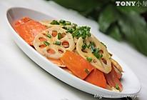 香干炒胡萝卜藕片的做法
