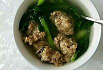 小白菜鸡肉香菇丸子的做法