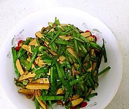 韭菜豆腐干的做法