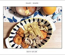 生蚝味的鸡腿团子 #锡纸鸡腿 配黄油金蒜蘑菇土豆条的做法