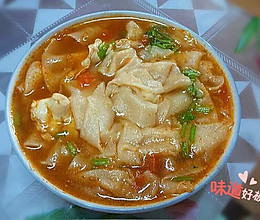 西红杮鸡蛋面片汤的做法