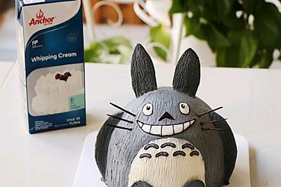 #安佳儿童创意料理#龙猫立体奶油蛋糕