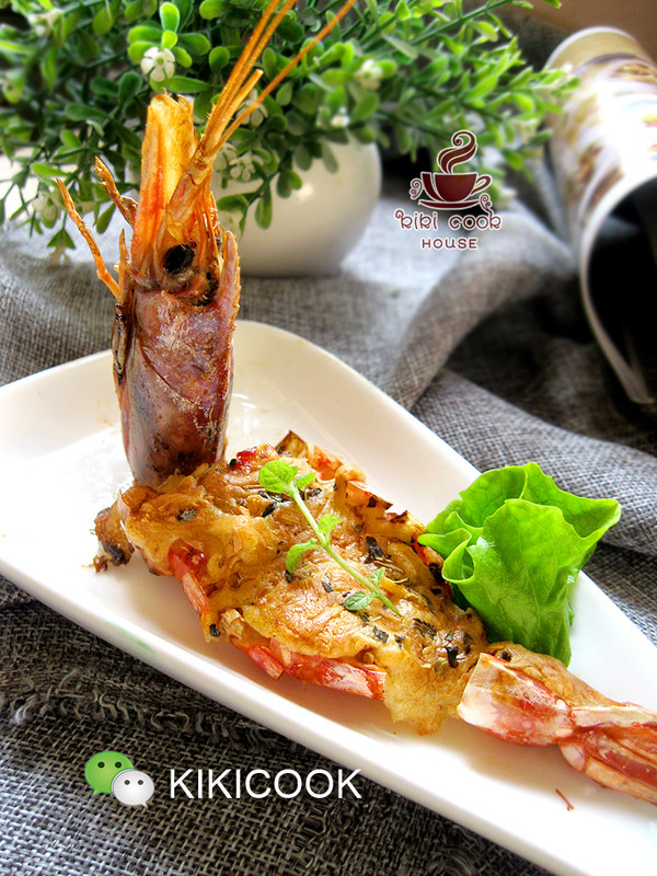 芝士焗阿根廷红虾