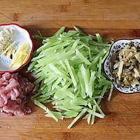 #福气年夜菜#清爽好吃的莴苣炒榨菜肉丝的做法图解2