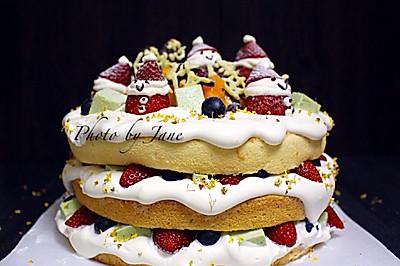 圣诞雪人裸蛋糕#圣诞烘趴 为爱起烘#