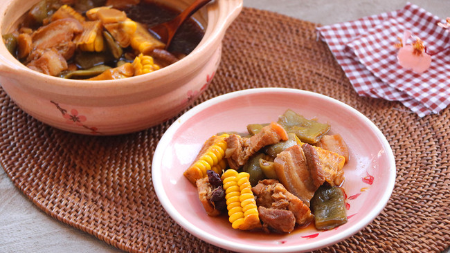 土锅菜系列--油豆角炖肉的做法