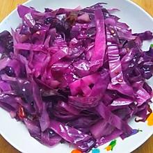 清炒紫甘蓝