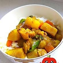 简单易做鸡丁土豆咖喱饭(咖喱盖饭)