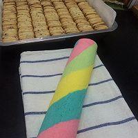 只为测试新刀—彩虹蛋糕卷的做法图解14
