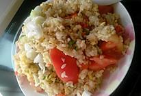 西红蛋炒饭的做法