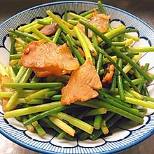 蒜苗炒咸肉