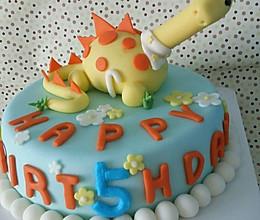 萌系翻糖恐龙蛋糕的做法