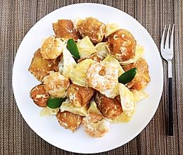 芒果油条虾的做法