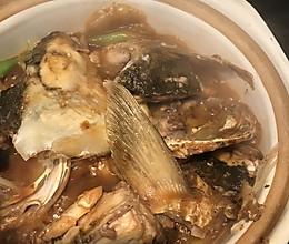 砂锅草鱼头的做法