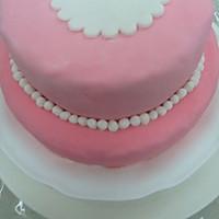 HOLLETKITY粉色双层翻糖蛋糕#九阳烘焙剧场#的做法图解40