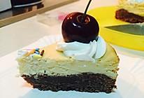 布朗尼芝士蛋糕(6寸)的做法