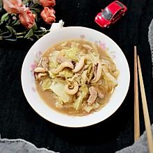 #快手又营养,我家的冬日必备菜品#板乌肉丝煨白菜