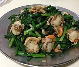 扇贝肉炒韭菜的做法