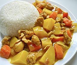 好吃到去舔盘❗️快手版咖喱鸡肉饭的做法