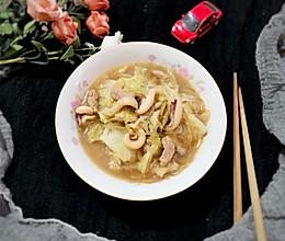 #快手又营养,我家的冬日必备菜品#板乌肉丝煨白菜的做法